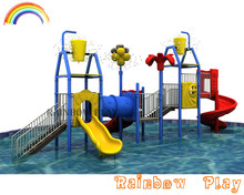 adorable children play water S slide with spray water system plastic water slide