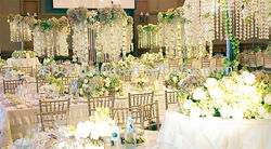 two layers shining wedding & event party centerpiece