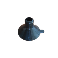 Small black silicone suction cup for wood
