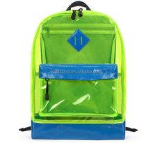 clear PVC bag school backpack for children