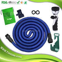 2016 USA Amazon 50ft Water Hose with Brass Fitting Expandable Garden Hose Bungee Flexible Water Hose