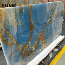 High Quality Indoor Decoration Material Polished Natural Blue Onyx Marble Slabs