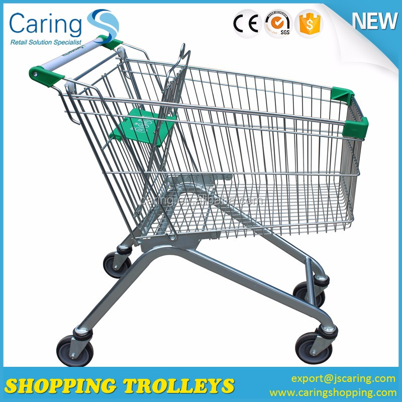 Supermarket vegetable shopping trolley cart