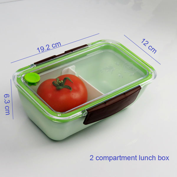divider adjustable bento box for kids lunch with clear lid two side clip clos. Black Bedroom Furniture Sets. Home Design Ideas
