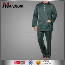 Embossed islamic men clothing long sleeve baju suit high end design muslim baju melayu
