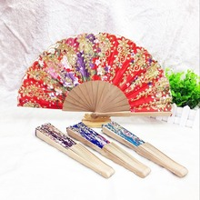 promotional custom spanish wooden hand fan