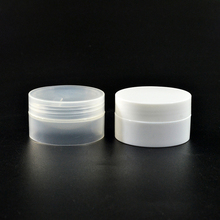 Skin Care Cosmetic containers 3g 5g 10g 30g 50g 100g white clear round PP plastic cream jar