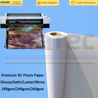 Factory Price Waterproof RC Satin Inkjet Photo Paper, 260gsm