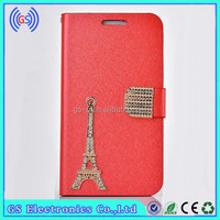 Ladies Mobile Phone Covers , Luxury Leather Mobile Phone Case For Gionee GN E3