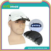 led lighted hats and caps , cordless mining cap light ,H0T011 camo led light cap