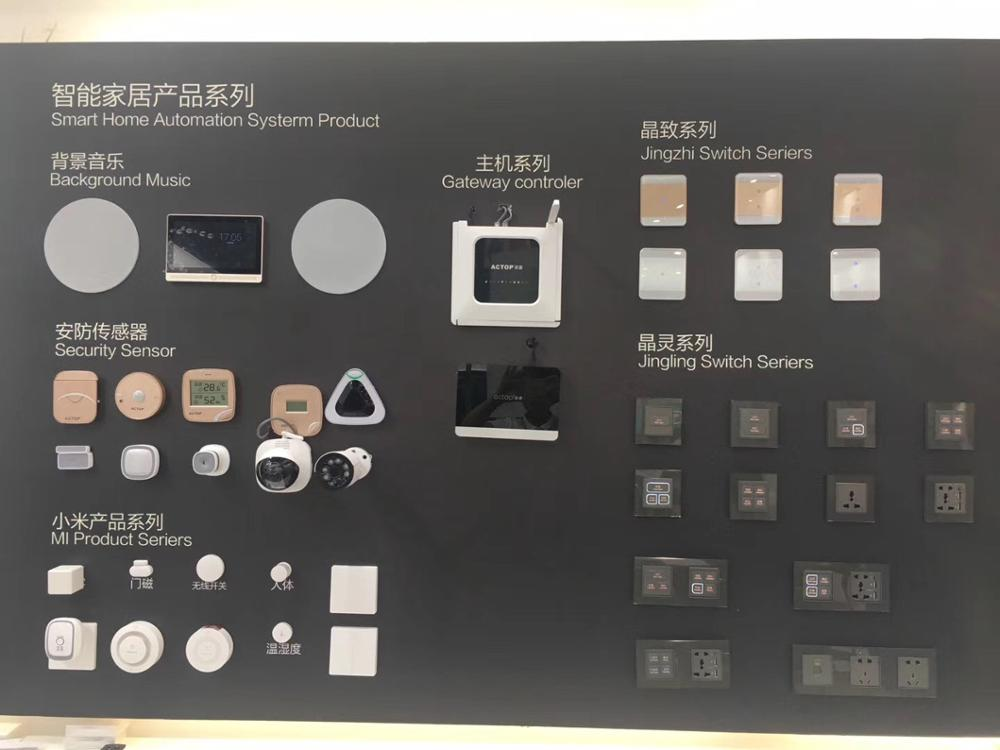 China Smart Home Solution Supplier Whole Home Automation Solution Display Case