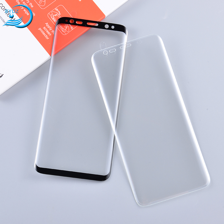3D curved full cover Premium tough tempered glass film screen protector for samsung galaxy s6 S7 edge s8 s8 plus mobile phone