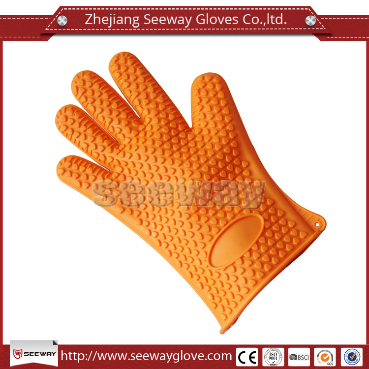 Seeway Supreme Quality Silicon Heat Resistant Oven Glove Waterproof Non Slippery for Pot Holder Barbecue Grilling Cooking Baking
