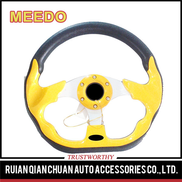 Guaranteed quality unique auto spare parts steering wheel for go karts