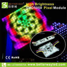 LED Pixel RGB Module High Brightness , 65536 grey scale , for Advertising decoration, outdoor building decotation, etc.