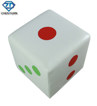 Modern Leisure Children Furniture Dice Appearance Leather Square Stool