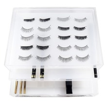 100% Clear Acrylic Special Design False Eye Lashes Extensions Organizer Holder Makeup Brush Storage Stand With Drawer