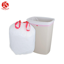 Black disposable bin liner refuse bag plastic trash garbage bag plastic rubbish bag on roll
