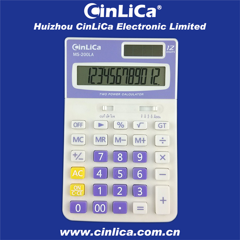 MS-200LA big display desktop 12 digits simple calculator