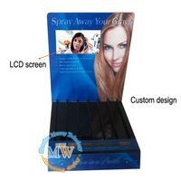 Custom design floor standing acrylic display cases wholesale with 7 inch LCD screen