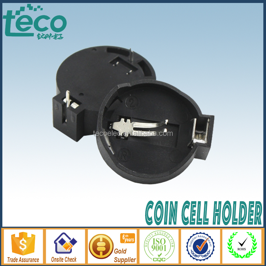 TBH-CR2032-<strong>02</strong> Ningbo TECO Hi-Quality CR2032 Li-ion Battery Holder for CR2032 Battery