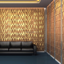 creative commercial building design raw material fireproof 3d wall panel