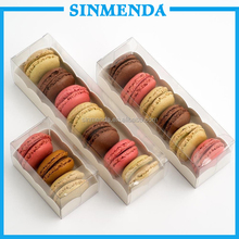 6pcs macaron packaging with clear plastic macarons box wholesale