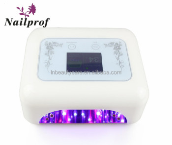 Powerful 48W LED Nail Gels Curing UV Lamp With Dual Light That can show company information in the screeen