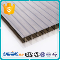 UV protected greenhouse plastic hollow 10mm polycarbonate sheet/greenhouse hollow policarbonate sheet