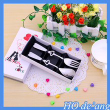 Hogift 2016 wedding favor gifts spoon and fork stainless steel tableware set MHo-64