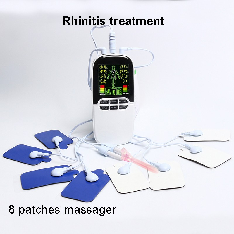 New 8 Pads Full Body Massager Slimming Electric Slim Pulse Muscle Relax Fat Burner with LCD display