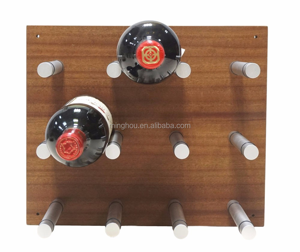 Peg Wine Rack System with Wood panel for wholesale