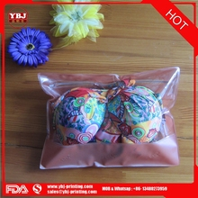 Promotional PVC/EVA Bikini/underwear/socks Zipper bag with custom printing