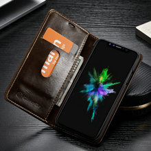 CaseMe For iPhone X 8 Luxury Wallet Leather Magnetic Flip Stand Case