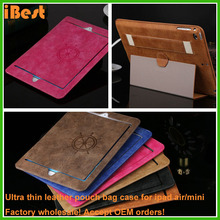 custom design cell phone belt clip shock proof leather pouch case for ipad mini air