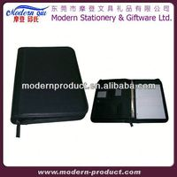 leather zippered padfolio