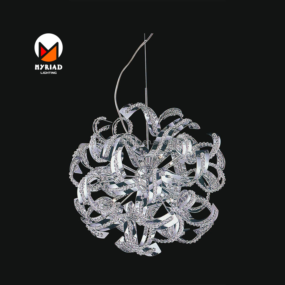 2017 new round ball shaped spiral crystal pendant and G9 or G4 lamp MY8898P-14