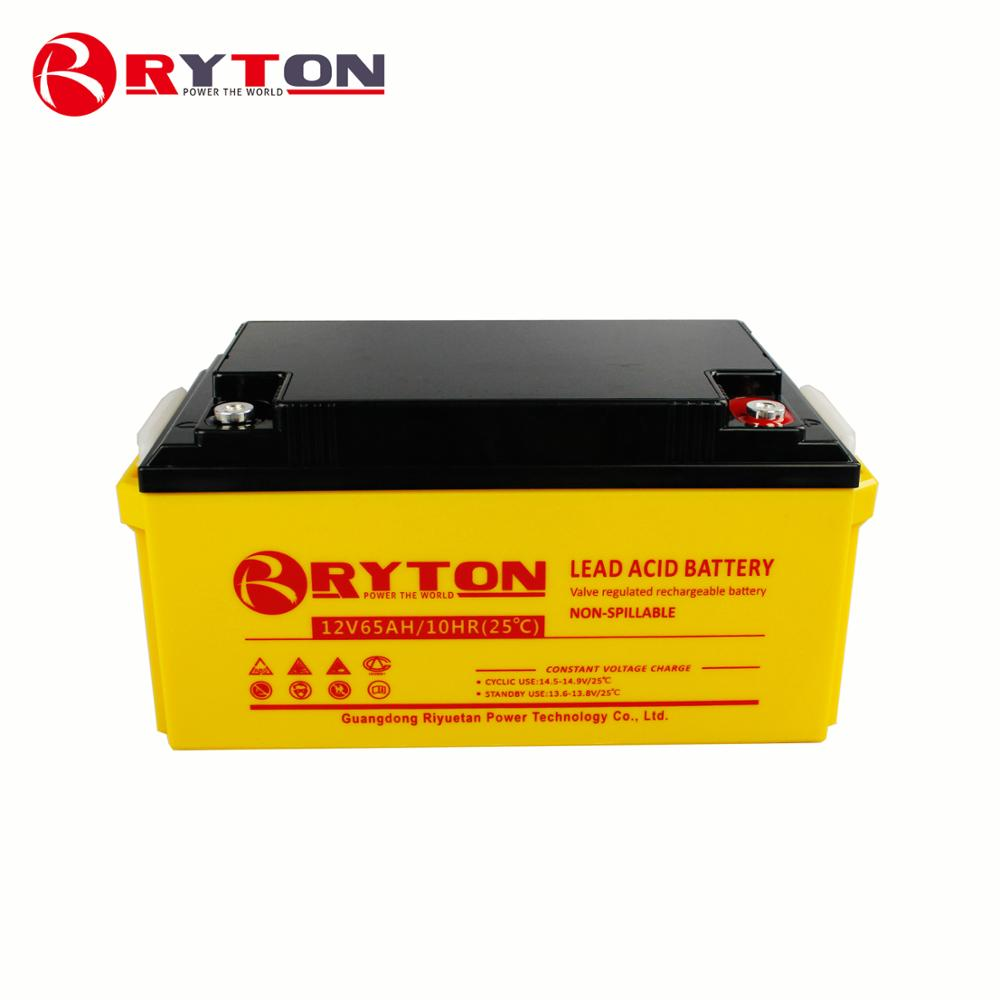 12V 65AH deep cycle lead acid gel battery with low price for UPS battery, solar system