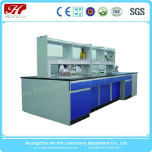 guangzhou plywood lab bench/biotechnology laboratory equipment lab island bench Chinese Chemical Lab Desk Furniture
