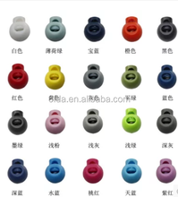 Plastic multiple color cord lock stopper type for garment clothing bags