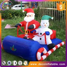 Funny and lovely Christmas outdoor decoration inflatable santa claus