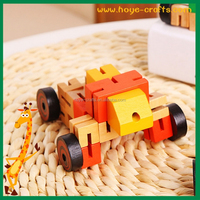 promotional DIY toys wooden robot