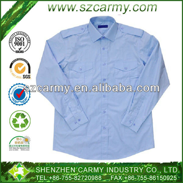 Kenya Air Force Light Blue Long Sleeves Shirts with Shoulder Straps