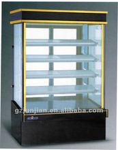 Upright Marble Glass Door Cake Display Cabinet