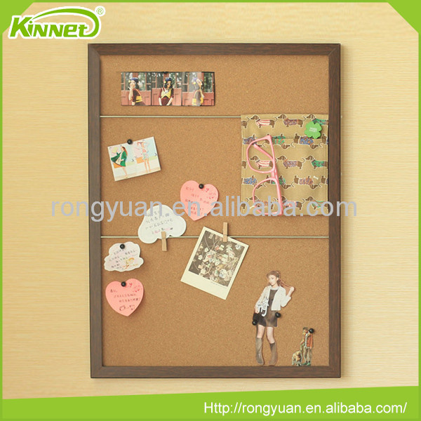 Wall decoration bulletin pin board newest notice no frame cork sheet