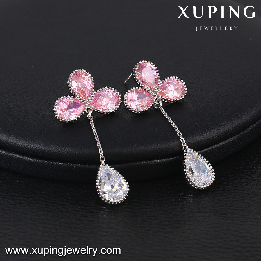 E-422 XUPING crystal natural gemstone earring,dubai gold jewelry earring,earring gold designs