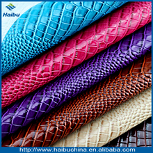 new synthetic PVC leather fabric waterproof quality bronzing crocodile embossed grain artificial leather fabric wholesale