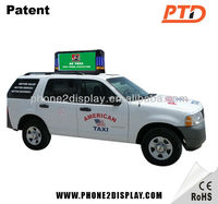 P5 3G wireless control video display LED taxi topper advertising