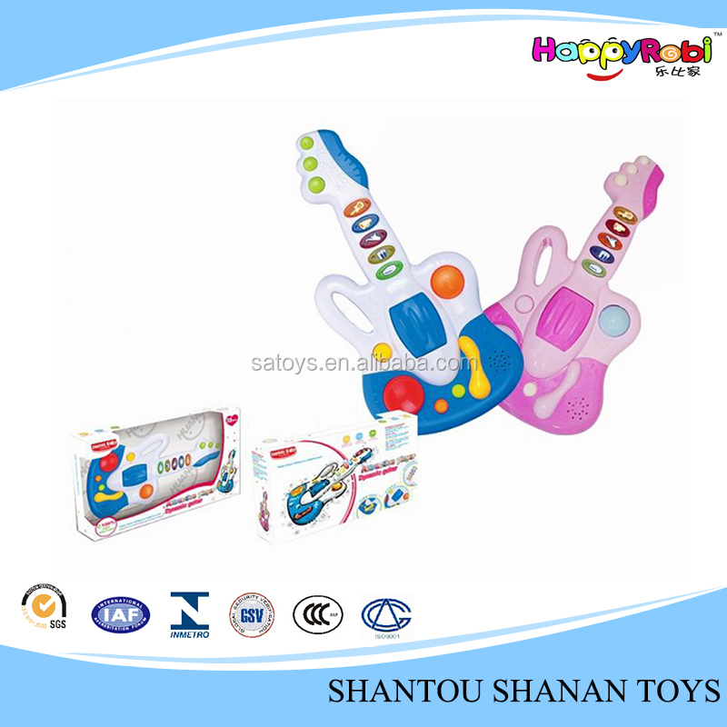 Wonderful music and light 9 song baby guitar toy