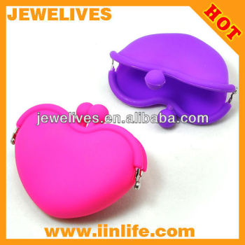 Silicone coin bag/ heart shape bags